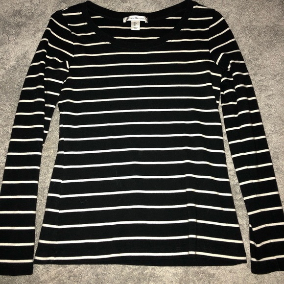 Susan Bristol Tops - long sleeve striped top